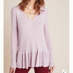 COMING SOON! Anthro Peplum Thermal Top